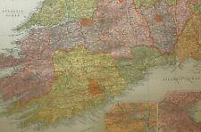 1898 ORIGINAL MAP IRELAND WATERFORD CORK DUBLIN LIMERICK KERRY TIPPERARY