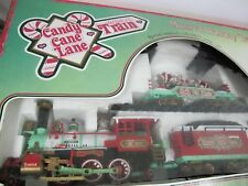 New Bright Candy Cane Lane Musical Animated Pump Car Train Christmas 1996 #181