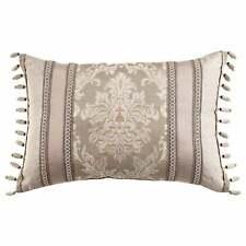 "Croscill Ava Geometric Pattern 22"" x 15"" Boudoir Decorative Pillow, Almond"