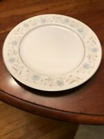 Vintage ENGLISH GARDEN fine china Japan DINNER PLATE blue pink flowers 1221