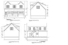 30'X40' Gable Roof Garage Shop Plan 40'X30' Gable Garage Print #17-3040Gbl-2