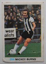 FKS Soccer Stars 1977-1978 NUMBER 256 MICKEY BURNS