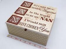 Gorgeous Nan Sentiment Vintage Look Wooden Keepsake-Memory-Trinket Box