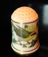 Common Yellowthroat Geothlypis Trichas Porcelain Thimble 1979 Vintage