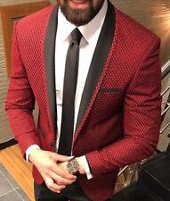 Designer Tuxedo Pattern Spiderman Suit Men's Suit Jacket Fitted Slim Fit 52