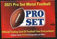 2021 Leaf - Pro Set Metal Football - Hobby Box [factory sealed]