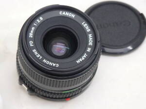 Mint Canon New FD 28mm f/2.8 MF Wide Angle Lens Excellent Condition from Japan