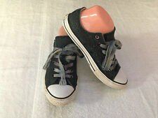 Converse All Star Double Tongue Black Sparkly Sneakers Shoes Mens Size 5 ~ USED