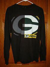 Majestic NFL Team Apparel GREEN BAY PACKERS Long Sleeve Black Mens Medium M NWT!