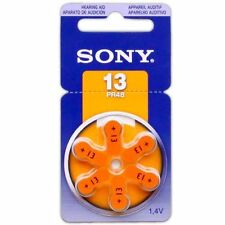 Sony Size 13 A13 13A Hearing Aid Batteries PR48 Zinc Air 1.4V 6pcs/pack