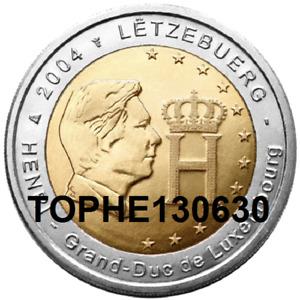 "LUXEMBOURG COMMÉMORATIVE 2004 ""MONOGRAMME GRAND DUC HENRI"" 2 EURO UNC"