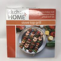 Kitchen + Home Stove Top Smokeless Grill Indoor BBQ, Stainless Steel