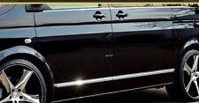 VW Transporter Caravelle MK VI T6 - CHROME SIDE DOOR COVERS TRIM STRIP 3M Tuning