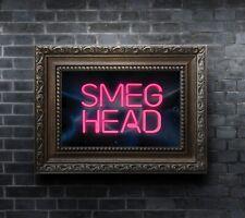 Smeg Head Red Dwarf Print, COOL NEON EFFECT poster