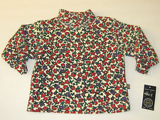 New GUMBOOTS Size 12M Cherry Floral Long Sleeve Shirt