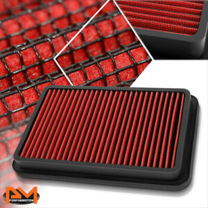 For 92-02 Corolla/Millenia/Prizm Reusable Multilayer High Flow Air Filter Red