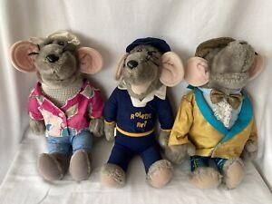 Vintage 1980s Roland Rat Superstar Plush Soft Toy Collection x 3 - Various