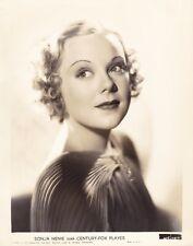 SONJA HENIE Beautiful Original Vintage 1936 Fox Studio Portrait Photo