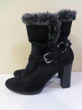 Dana Buchman Black Lined High Heel Ankle Boots Women's Size 10M
