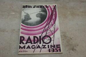 Almanach Radio Magazine 1931
