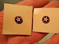 2 vintage American Czech CSA Enamel Star Pins that is in good shape - NR