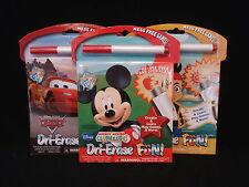 4 Disney Dri-Erase Fun Mess Free Games 2 Cars, 1 Mickey Mouse & 1 Jake Pirate