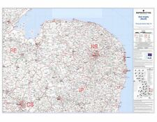 Postcode Sector Map 15 East Anglia (North) - Laminated Wall Map