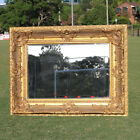 Wooden Europe palace style Embossed Wall Mirror with gold colour frame