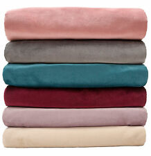 McAlister Textiles Classic Matt Velvet Luxury Soft Plain Bed Runner & Sofa Throw