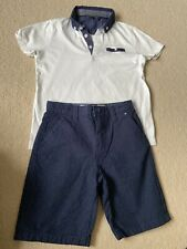 Boys Smart Summer Holiday Outfit Shorts T Shirt Age 6-7