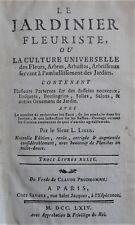 LIGER LOUIS: Le jardinier Fleuriste, ou la Culture universelle des Fleurs...