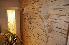 2 x Wandlampe Römische Wandfackel Flammenlampe Römerlampe Fackellampe Wikinger