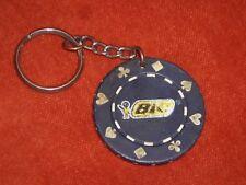Porte-clé Keychain Type jeton poker Stylo BIC trèfle cœur carreau pique Jeux