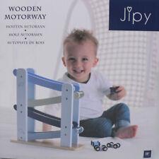 Jipy Autobahn Holz Kugelbahn Kinderspielzeug Autorennbahn  in Blau