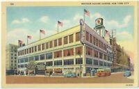 Madison Square Garden New York City Vintage Postcard New York Linen NY