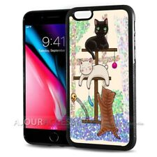 ( For iPhone 8 ) Back Case Cover AJ10642 Cartoon Cat