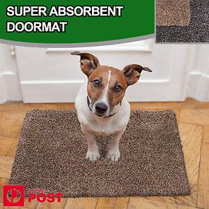 Super Absorbent Absorbs Mud & Water Microfibre Non-Slip Doormat Clean Step Mat