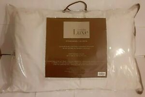 NEW everyday luxe Luxurious cotton covered pillow A Hotel Collection Queen 500