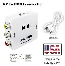 *BLACK* AV RCA In HDMI Out Video Converter For N64/NGC/Wii Etc 1080p Upscaler