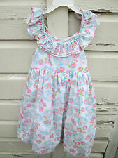 Laura Ashley London Girls Floral Sleeveless Petticoat Dress Size 6X