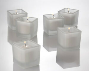 5cm Square White Wax Candle Wedding Ceremony Event Table Decoration BUY QTY REQD