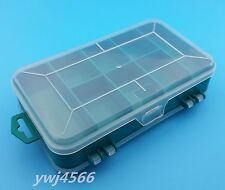 1Pcs  Organizer Jewelry Beads Tackle Sewing Plastic Storage Box Case/Lid 2-Sided