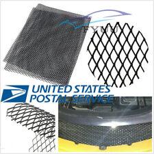 US Shipping 12mm*6mm Rhombus Style Car SUV Black Aluminium Racing Grille Mesh X1