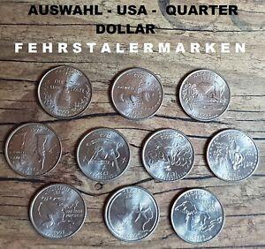 USA - QUARTER DOLLAR - Auswahl aus verschiedenen Jahrgängen 2000-2004 Prägung P