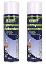 2 x Ultratape Spray Adhesive Heavy Duty Glue ideal For Card Paper Fabric 500ml