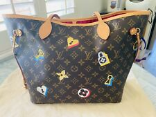 Authentic Luis Vuitton Love Lock Neverfull MM NM Bag With Receipt