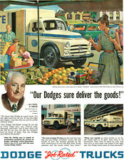 Blue Plate Foods New Orleans DODGE TRUCK Open Air Farmers Market 1952 Print Ad