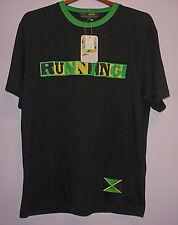 NWT Jamaica Running Is Life Ringer T Shirt Black L