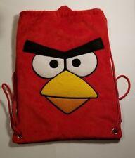 Angry Birds Soft Velvet Velour Drawstring Backpack Tote  B6