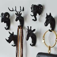 Animal Head Shaped Hooks Coat Wall Hanger Wall Mounted Door Hook Accessories